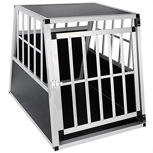 EUGAD Hundebox Transportbox Hundetransportbox Alu Reisebox Gitterbox Box L 85 x B 65 x H 69 cm 0046HT