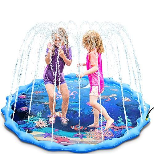 Magicfun Splash Pad, 172cm Wasserspielzeug Spielmatte für Kinder , Sprinkler und Splash Play Matte mit...