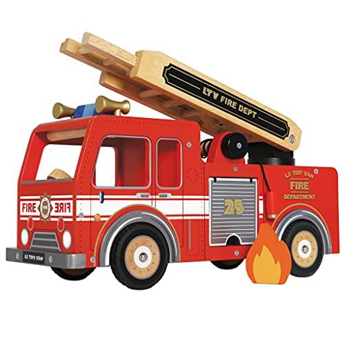Le Toy Van – Rollenspiel Feuerwehrwagen Spielset aus Holz | Feuerwehrmann-Spielset – Geeignet für...