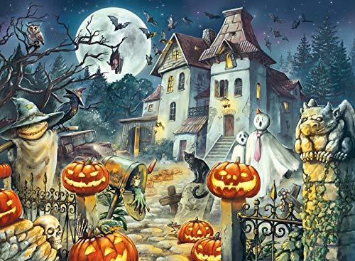 Ravensburger Kinderpuzzle - 13264 Das Halloweenhaus - Halloween-Puzzle für Kinder ab 9 Jahren, mit 300...