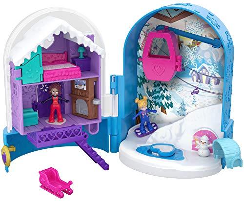 Mattel Polly Pocket FRY37 World Schneespaß Schatulle