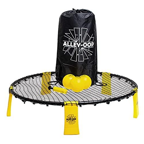 ALLEY-OOP Roundnet-Set Outdoor Volleyball Spiel- Enthält DREI Bälle, EIN Starkes Netz, Ballpumpe,...