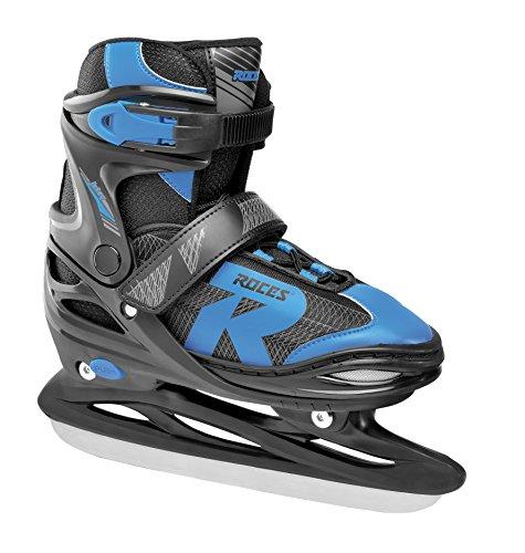 Roces Kinder Jokey Ice 2.0 Verstellbarer Schlittschuh, Black/Astro Blue, 34-37