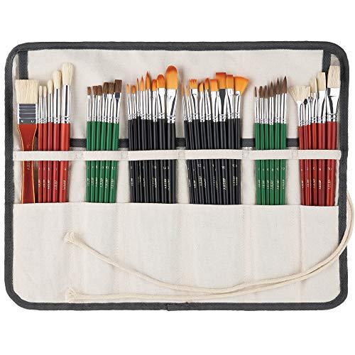 ARTIFY 41 Pcs Expert Series Pinsel mit langem Stiel Kunst Set für Acrylöl Aquarell Gouache, EIN Set aus...
