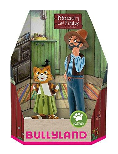 Bullyland 46005 - Spielfigurenset, Pettersson und Findus in Geschenk Box, 2 teilig, liebevoll handbemalte...