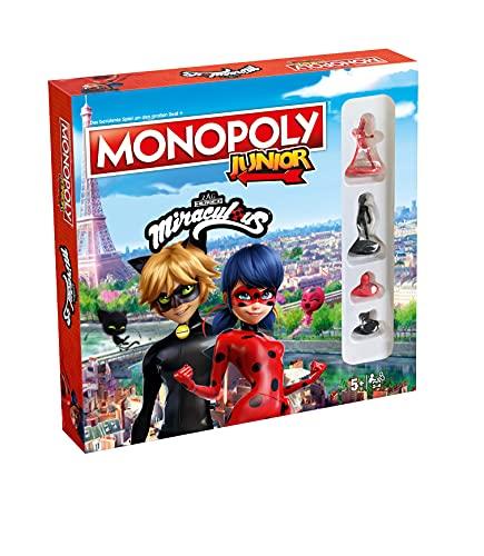 Monopoly Junior - Miraculous - Mit Lady Bug, Cat Noir, den Kwamis von Miraculous und vielen weiteren -...
