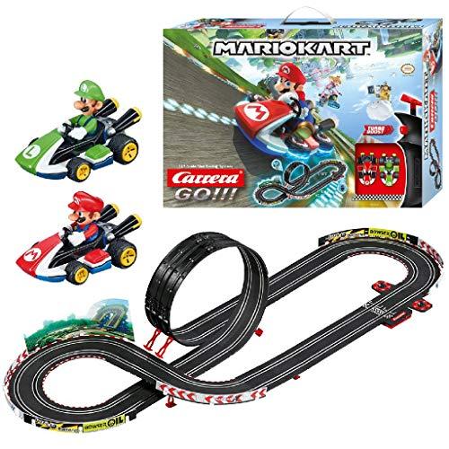 Carrera 20062491 GO!!! Nintendo Mario Kart 8 Rennstrecken-Set | 4,9m elektrische Carrerabahn mit Mario &...