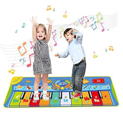Upgrow Tanzmatte, Kinder Musikmatte, Klaviermatte mit 8 Instrumenten, Klaviertastatur Musik Playmat...