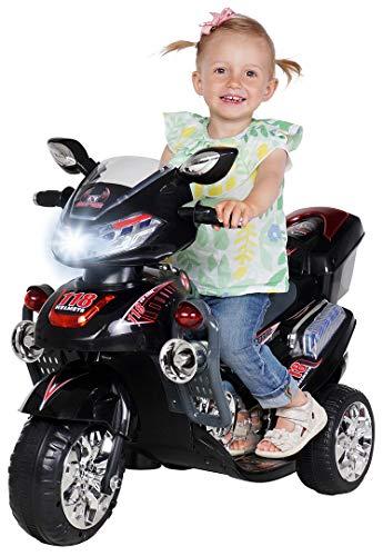 Kinder Elektroauto Motorrad C031 Elektro Kindermotorrad Kinderfahrzeug (schwarz)