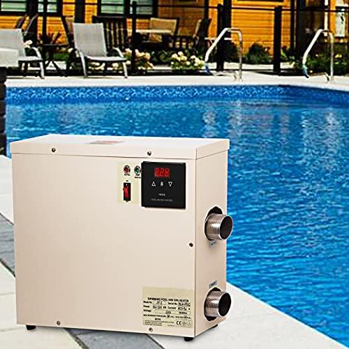 VEVOR Poolheizungsthermostat 11KW 50A Wärmepumpen Poolheizung 47,5x35,5 10cm Schwimmbadheizung 220-240 V...