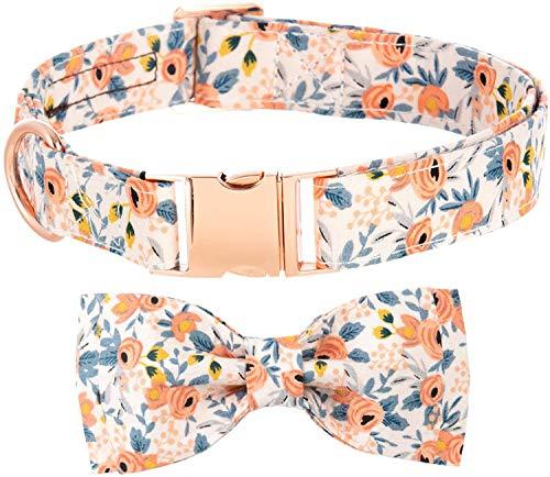 Hundehalsband Fliege,Mädchen Hundehalsband Welpenhalsbänder Blumenmuster Personalisierte...