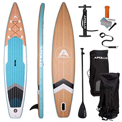 Apollo SUP Board Infinity Pro - 365 x 76 x 15 cm, iSUP Komplettset, Stand-up-Paddling Set, extra lang,...