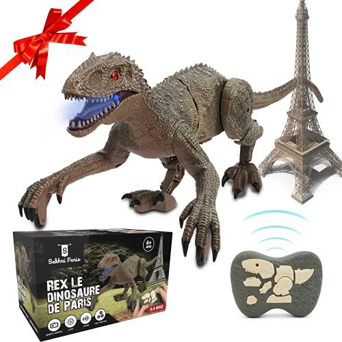 SAKHRI PARIS®– Ferngesteuertes Dinosaurier-Spielzeug – Rex der Dinosaurier aus Paris –...