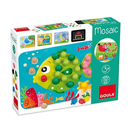 Goula D53136 Mosaik Spiel Holzspielzeug für Kleinkinder, Ab 3 Jahren