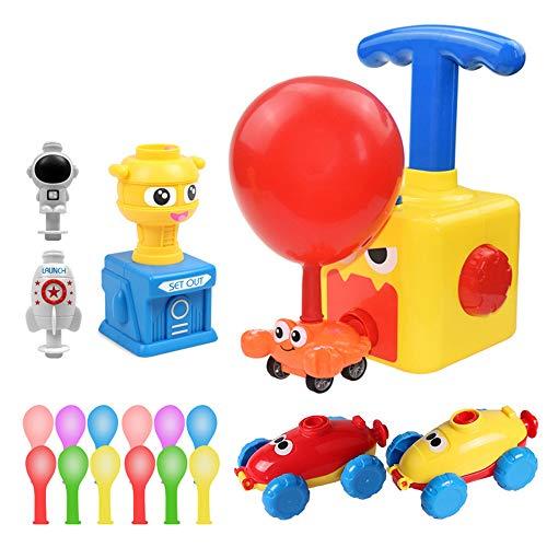 EKUPUZ Inertial Power Balloon Car, Kinder Inertia Balloon Car Toy, Power Balloon Powered Launch Car mit...