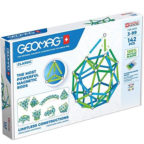 Geomag 274 Classic-93 Teile-Magnetisches Konstruktionsspielzeug für Kinder-Green Line-Lernspiel aus 100%...