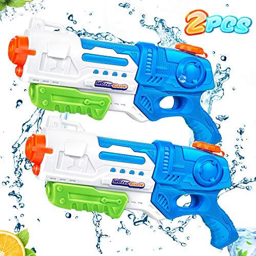lenbest Wasserpistole, 2 Pack Wasser Blaster, 10 Meter Reichweite, Super Squirt Wasserpistolen - Sommer...