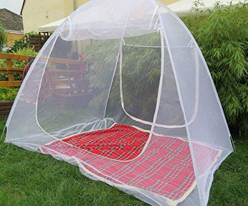 Schramm® Moskitonetz mobil 200x180x155cm Mückenschutznetz Baldachin Insektenschutz Fliegengitter...