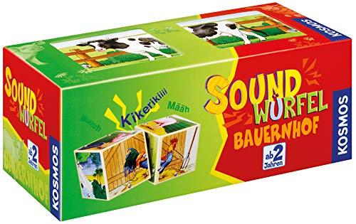KOSMOS 697365 - Soundwürfel Bauernhof, Lernspielzeug mit Geräuschen, für Kinder ab 2 Jahre, Spielzeug...