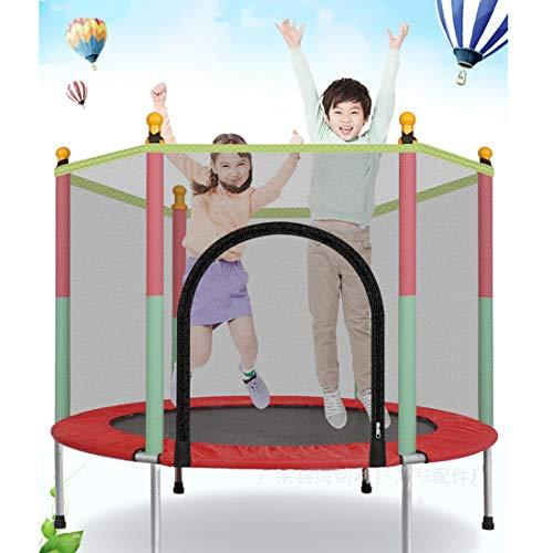 Leic Trampolin Indoor- und Outdoor-Sportarten mit Sicherheitsgehäuse Netzgriff Mini-Trampoline für...