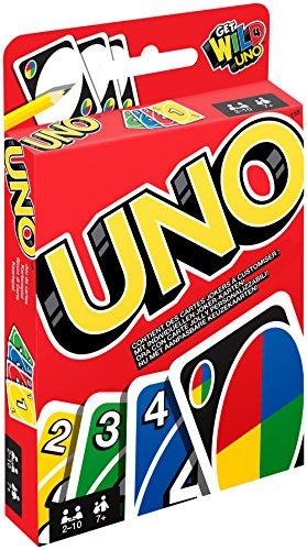 Mattel Games W2087 - UNO Kartenspiel und Gesellschaftspiel, geeignet für 2 - 10 Spieler, Kartenspiele...