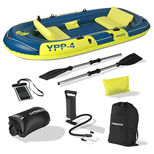 Hoberg 4-Sitzer Schlauchboot YPP-4'   Für 4 Personen   Inkl. 2 Sitzbänken, 2 Paddel, Pumpe & weiterem...