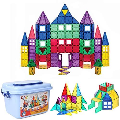 Montessori Magnetische Bausteine 90pc-Kinder Magnetics Bausteine Lernspielzeug für Jungen und Mädchen...