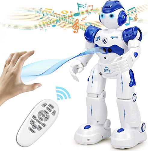 NEWYANG Roboter Spielzeug für Kinder, RC und Geste Steuerung, Aufladen mit USB-Kabel,Singender und...