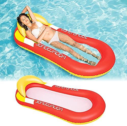 WOSNN Pool Hängematte mit Mesh, Aufblasbare Wasserhängematte luftmatratzen Liege Wasser Bett Floating...