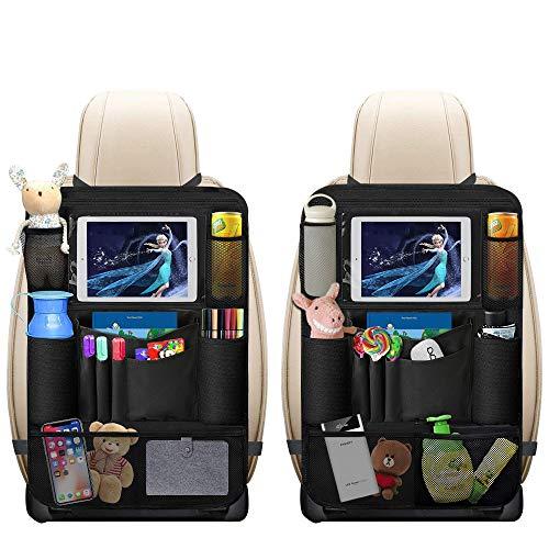 Auto Rückenlehnenschutz, omitium 2 Stück Auto Rücksitz Organizer für Kinder mit Große Taschen und...