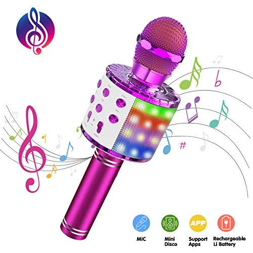ATOPDREAM Mikrofon Kinder, Geschenke für Mädchen 4-12 Jahre Mädchen Spielzeug 4-12 Jährige Mädchen...