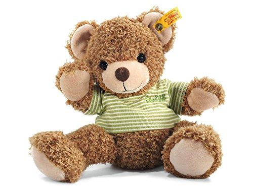Steiff Happy Friend Knuffi Teddybär - 28 cm - Teddybär mit T-Shirt - Kuscheltier für Kinder - weich &...