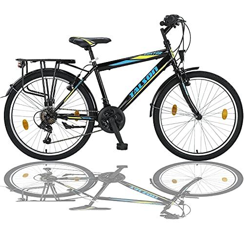 24 Zoll Jungen Fahrrad 21-Gang MIT Beleuchtung Farbe SCHWARZ TMX