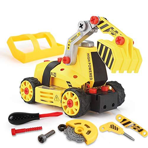 BeebeeRun 7 in 1 Montage Spielzeug Auto LKW,Kinder Spielzeug ab 3,Spielzeug 4 Jahre Junge,Lastwagen...