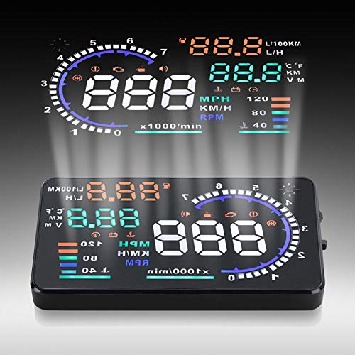 Qiilu A8 5.5 Zoll OBD II Auto HUD Head Up Display Auto Windshied Reflektierende Bildschirm...