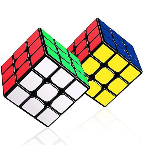 LOVEXIU Zauberwürfel 2PCS, Cube 3x3, Zauber Würfel mit optimierten Dreheigenschaften Geschwindigkeit...
