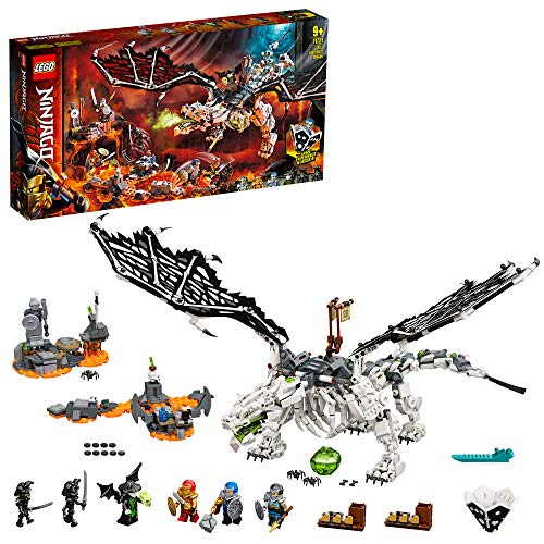 LEGO 71721 NINJAGO Drache des Totenkopfmagiers, 2-in-1 Bauset und Brettspiel mit Skelett-Rittern...
