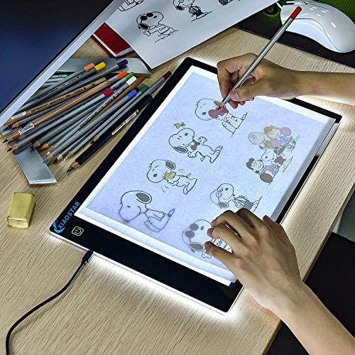 XIAOSTAR A4 Leuchttisch Led Licht Pad A4,Helligkeit Dimmbare Copy Board Leuchtkasten mit Type-C Ladekabel...