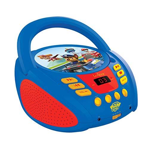Lexibook Paw Patrol Boombox CD-Player, AUX-Eingangsbuchse, AC-Betrieb oder Batterie, Blau/Schwarz,...