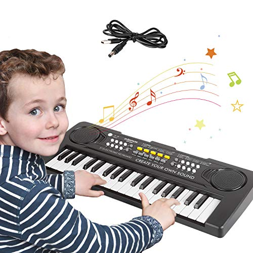 sanlinkee Kinder Klavier Piano,Digital Piano 37 Tasten Keyboard mit USB-Kabel Multifunktions Musik...