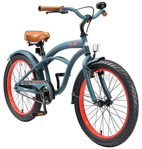 BIKESTAR Kinderfahrrad für Mädchen ab 6-7 Jahre   20 Zoll Kinderrad Cruiser   Fahrrad für Kinder Mint...