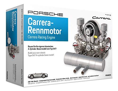 Franzis PFF018 67550 Porsche Carrera Rennmotor originalgetreues Modell 4-Zylinder-Boxermodell vom Typ...