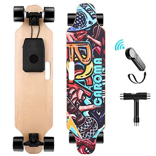 Caroma Elektro Skateboard 90cm(36') mit Drahtloser Bluetooth Fernsteuerung, 25 KMH MAX Geschwindigkeit,...