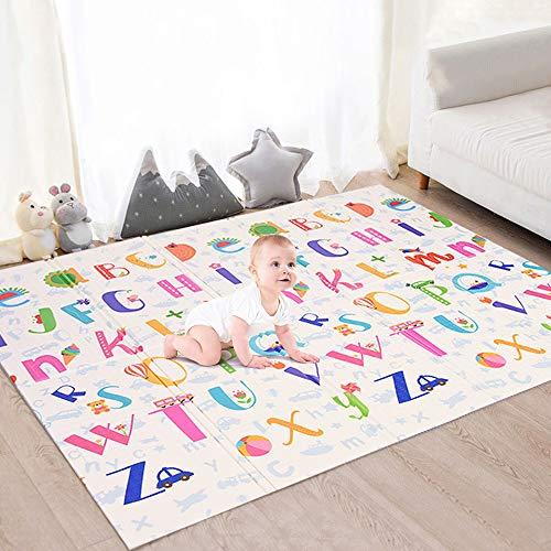 Faburo Baby Spielmatte Babymatte Verdickte Krabbelmatte Faltbar Baby Bodenmatte Wasserdicht für Baby...