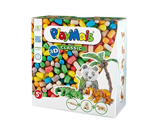 PlayMais 3D Wild Animals Bastel-Set für Kinder ab 5 Jahren | Über 900 3 Tierfiguren aus Pappmaschee zum...