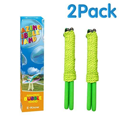 E-Know 2 Pack Seifenblasen-Stab Riesenseifenblasen für Seifenblasen Partei-Edelstahl machte das...