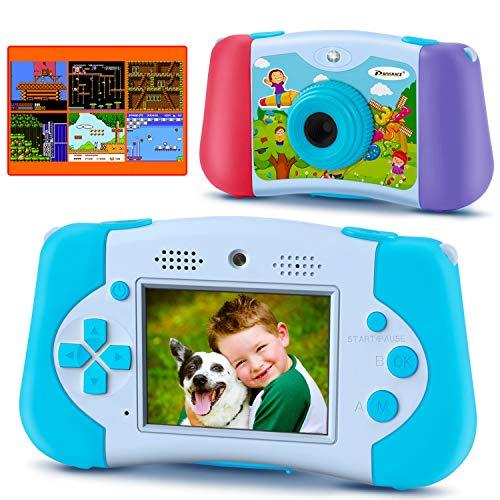 PROGRACE Kinderkamera Handheld-Konsolenspiel für 4-12 Jahre alte Jungen Mädchen Spielzeug Geschenke...