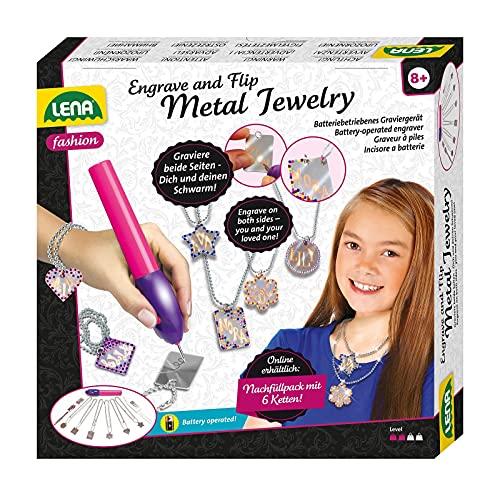 Lena 42655 Engraver's Jewelry Studio, Schmuckstudio, Gravurstudio für Kinder ab 9 Jahre, Set mit...