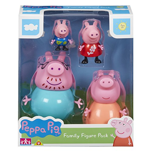 Peppa Set of Figures 4 Pack, 06666, Multicolour