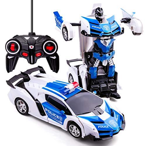 Transformers Toys 2 in 1 Transformator Auto RC Auto für Kinder Deformation Roboter Auto Spielzeug für...